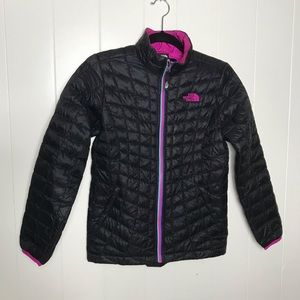 The North Face - Girls - Black/Pink Puffer Jacket